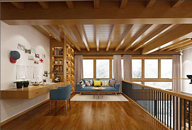 半开放式书房装修风格-半开放式书房设计要点-华浔装修