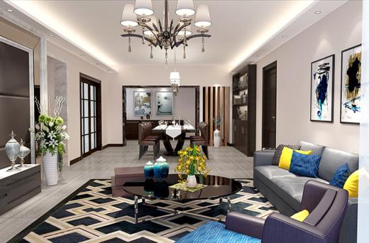 珠江俊园四房两厅现代创意