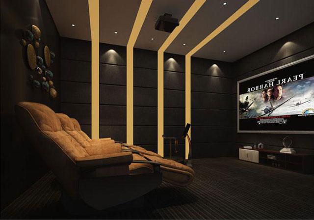 如何将客厅改造成家庭影院-客厅家庭影院设计-广州华浔
