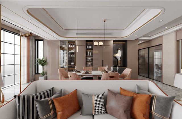 200平現代輕奢風裝修案例-現代輕奢風裝修風格案例-現代輕奢風別墅裝修